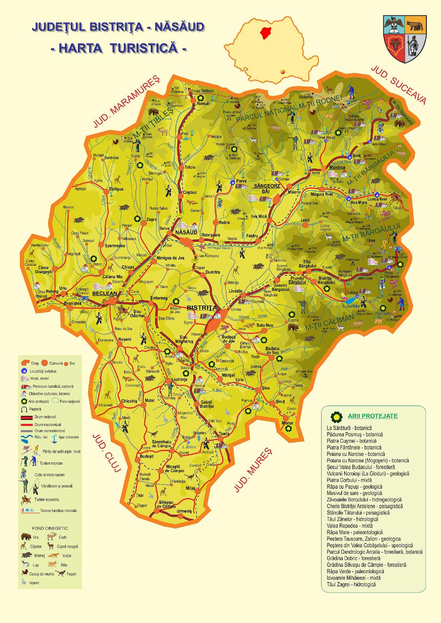 Turism Nasaud Harta Zona
